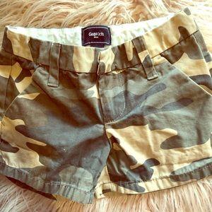 Girls camouflage shorts